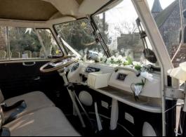 VW Splitscreen Campervan for weddings in Liphook